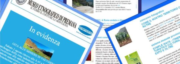 newsletter  museo etnografico premana